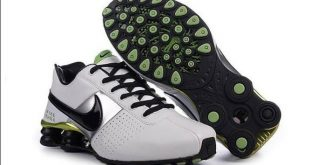 Nike shox clearance nike shox oz d menu0027s shoes white/black/green GGKUTMD