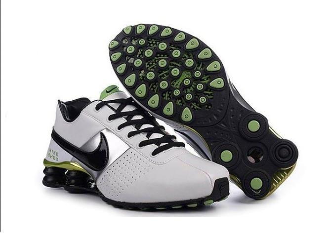 Nike shox clearance nike shox oz d menu0027s shoes white/black/green GGKUTMD