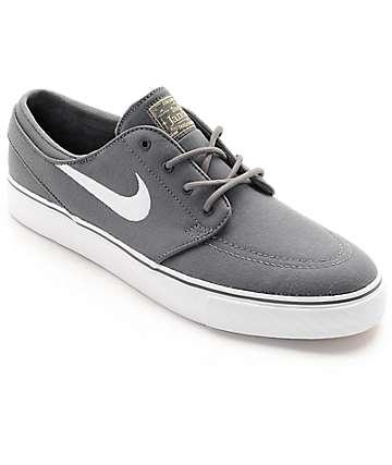 nike skate shoes nike sb janoski canvas grey u0026 white skate shoes GWBWRYM