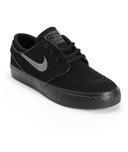 nike skate shoes nike sb stefan janoski black u0026 anthracite boys skate shoes VSDGOIY