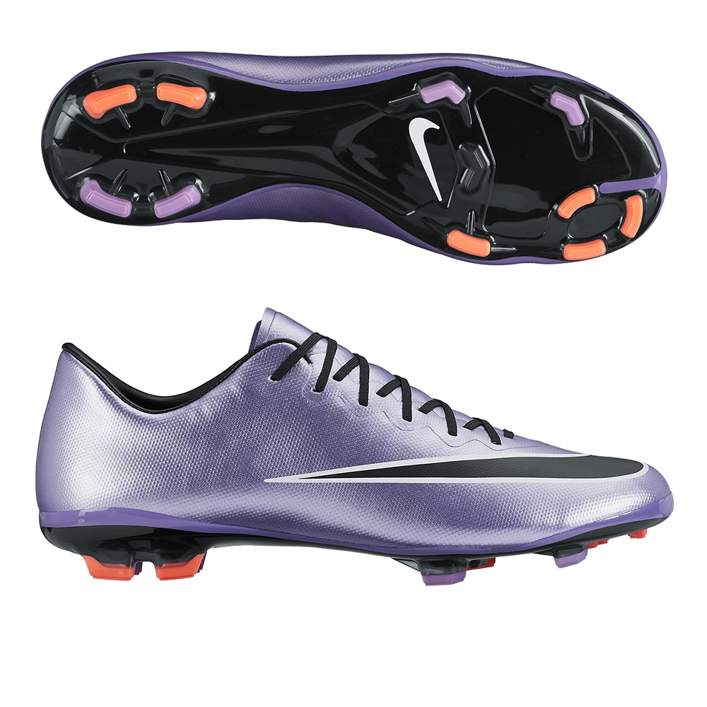 Nike soccer cleats nike youth mercurial vapor x fg soccer cleats (urban lilac/bright  mango/black) NNWHNBA