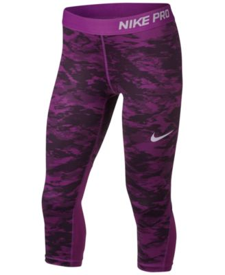 nike yoga pants nike pro capri-length leggings, big girls (7-16) OVWESCQ
