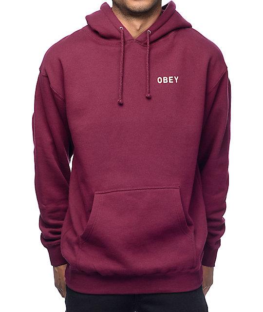 Stylish and sleek- burgundy hoodie