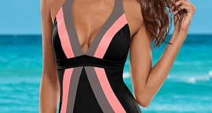 one piece swimwear flattering halter one-piece ODPSYQA