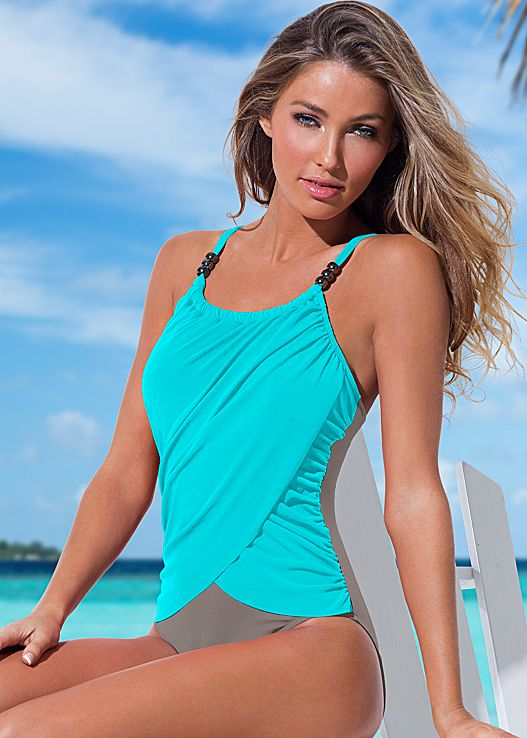 one piece swimwear slimming draped one-piece LCTQZZI