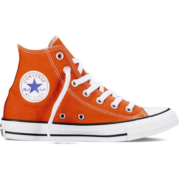 orange converse converse chuck taylor all star fresh colors - roasted carrot sneakers ($60)  ❤ AWHNYMX