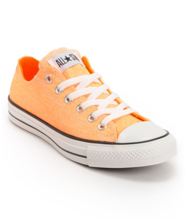 orange converse converse chuck taylor all star washed neon orange shoe totally buying these  as ZBQWWPR