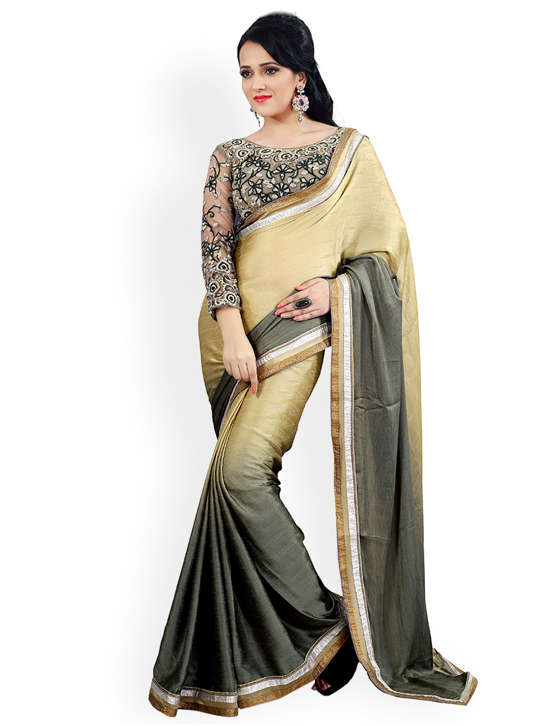 party wear sarees - buy partywear sarees online in india - myntra NPWVQEL