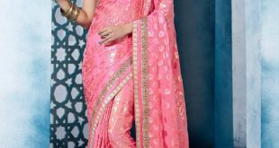 party wear sarees designer indian brasso party wear saree in baby pink j15111 XFKNMIW
