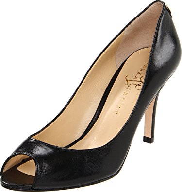 peep toe pumps ivanka trump womenu0027s cleo open-toe pump,black,6 ... AXZOFSU