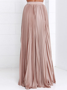 pink pleated maxi skirt. pin it XCAAPGX