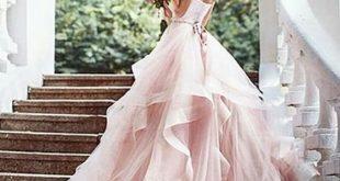 pink wedding dresses elegant wedding dress,lace wedding dress,romantic evening dress,princesses wedding  gowns,blush pink wedding gowns MGXJXIM