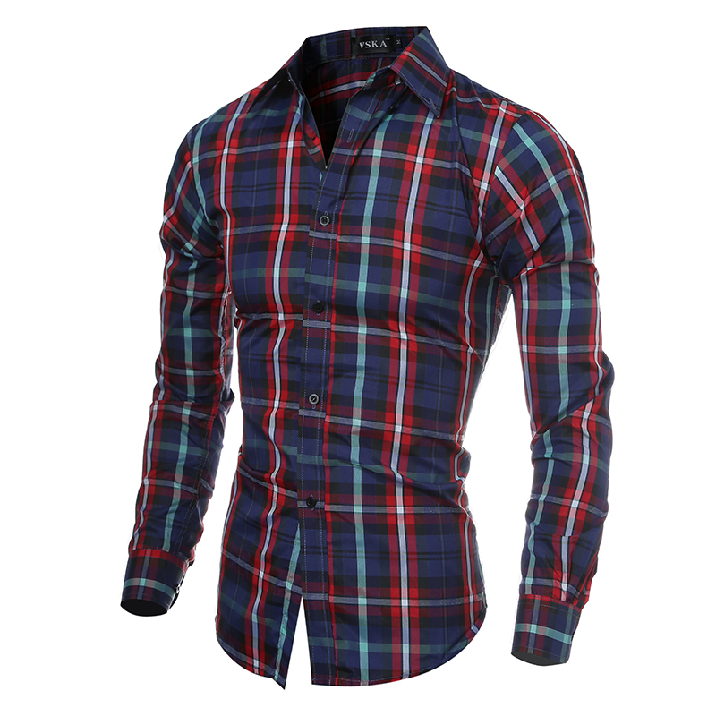 plaid shirts for men 2017 men shirts long sleeve casual red plaid shirt mens designer black  striped AILORPC