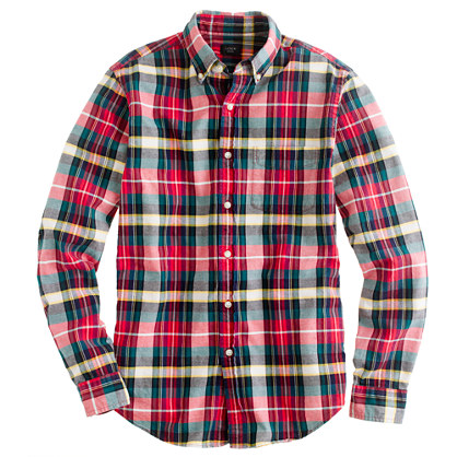 plaid shirts oxford plaid shirt in holiday red/ BOTPEEB