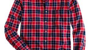 plaid shirts oxford plaid shirt in leaf red PGHEMQB