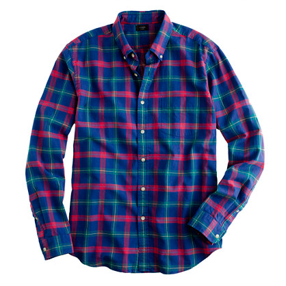 plaid shirts oxford plaid shirt in vintage cobalt DVPTNEK