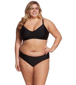 plus size bikinis skye plus size solid meli banded triangle bikini top VGDKESK