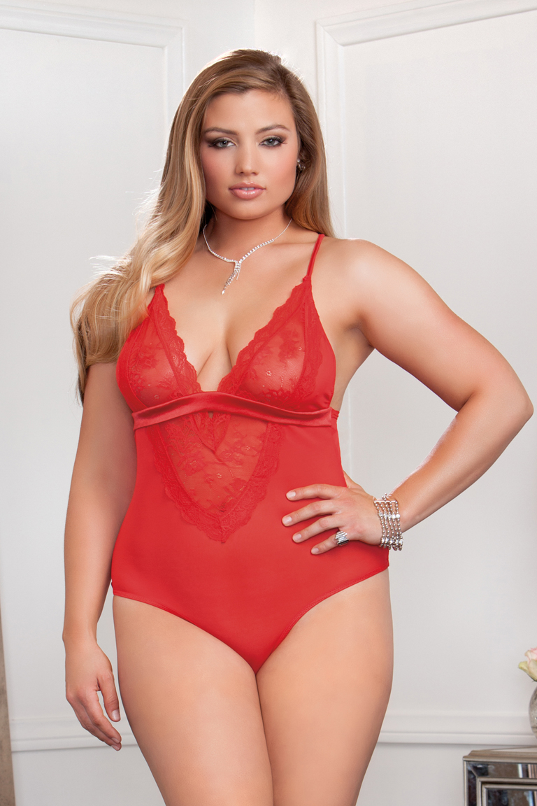 plus size bodysuit plus size sasha lace and mesh bodysuit CMDOYFJ