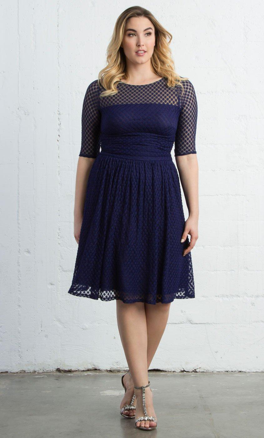 plus size dresses plus size swing dress - alexa retro dot dress HXPYIAG