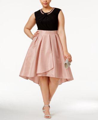 plus size dresses sl fashions plus size embellished fit u0026 flare dress IGFPGKC