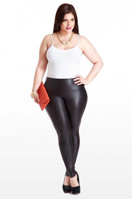 plus size leggings plus size high waisted faux leather leggings | fashion to figure RKTCJQI