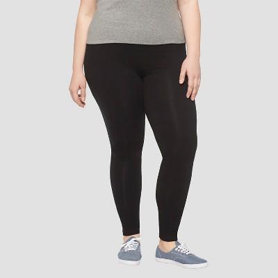 plus size leggings womenu0027s plus size leisure leggings pants black - ava u0026 viv™ PURFAHM
