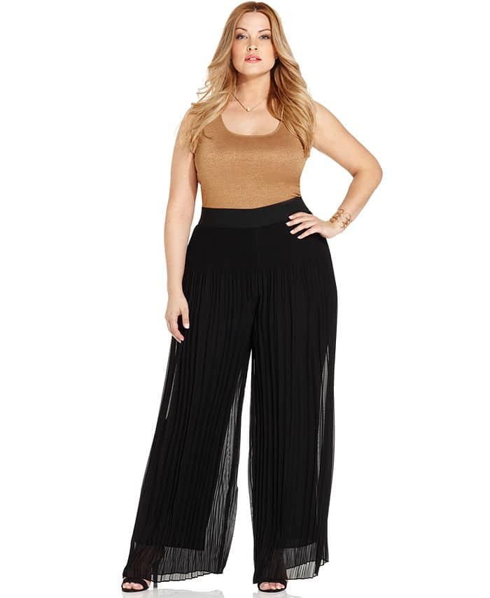 plus size palazzo pants ... alfani plus size pleated palazzo pants UTMICMB