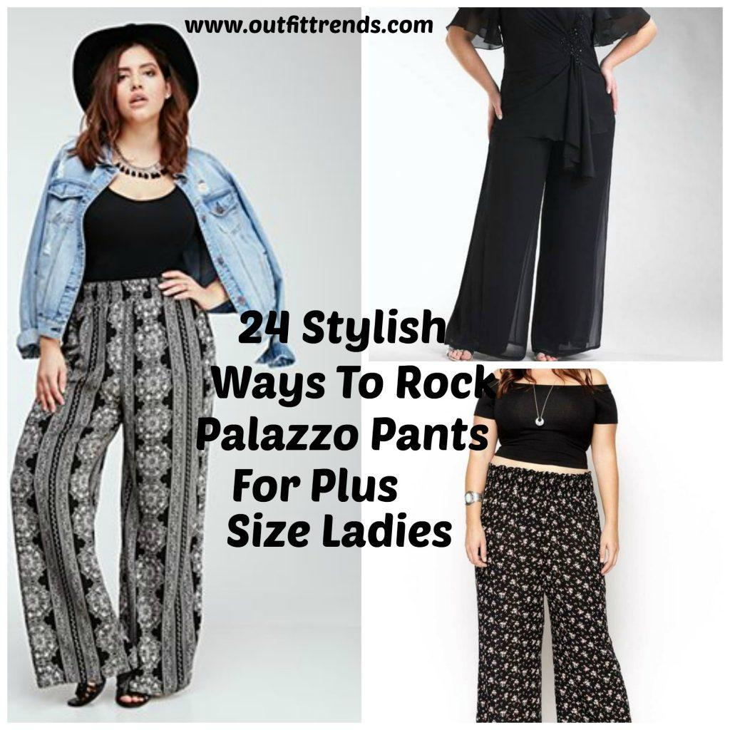 plus size palazzo pants palazzo pants for plus size-24 palazzo outfit ideas for curvy girls OTEJDXF