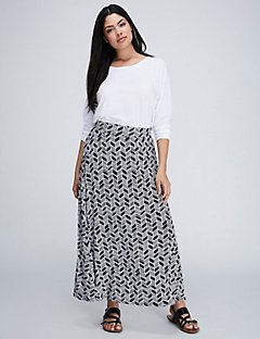 plus size skirts printed maxi skirt SSYDXTY