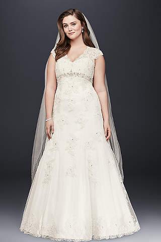 plus size wedding dress davidu0027s bridal collection RCEEPKT