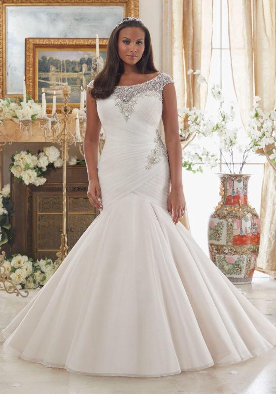 plus size wedding dress julietta - plus size wedding dresses, wedding dresses u0026 bridal gowns  dazzling beaded JITFWKQ