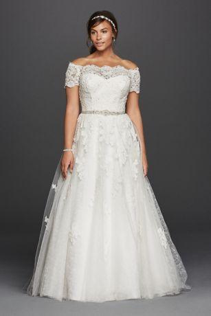 plus size wedding dress long a-line romantic wedding dress - jewel RFWTYKC