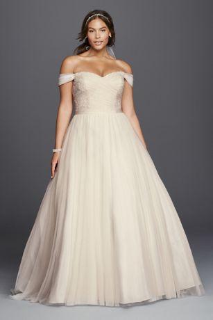 plus size wedding dress long ballgown romantic wedding dress - davidu0027s bridal collection QOIKLOU