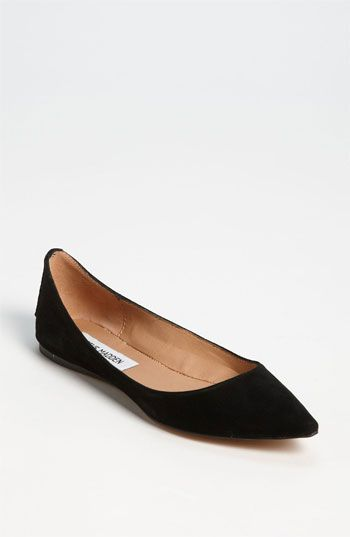 pointy toe flats free shipping and returns on steve madden u0027vegasssu0027 flat at nordstrom.com.  black flats BOZTLQG