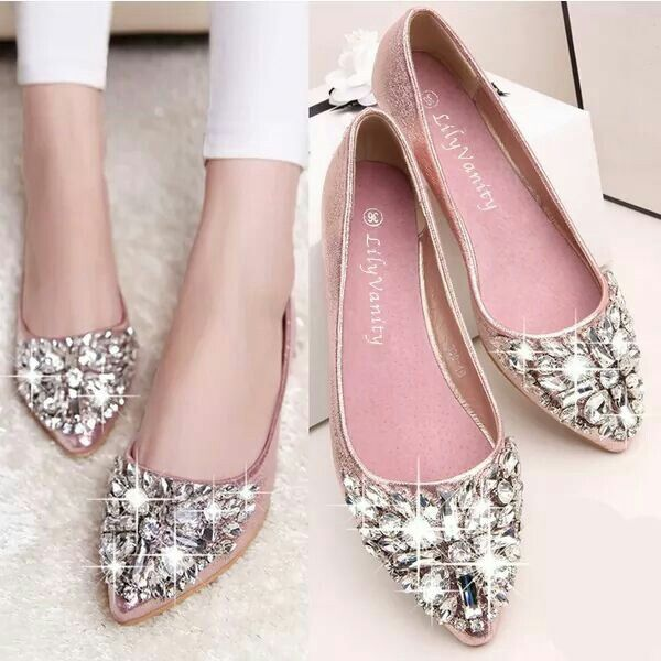 pointy toe flats pink lilyvanity flats... princess shoespointed toe ... HUSSXZO