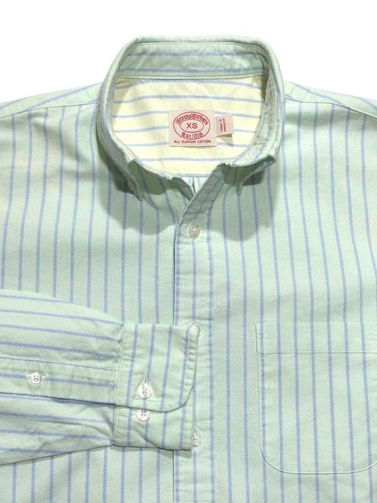polo dress shirts brooks brothers oxford vintage green blue supima cotton polo dress shirt  men xs CUDQWKH