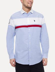polo dress shirts oxford cloth color block shirt FNMWKIV