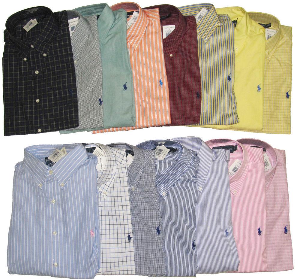 polo dress shirts polo ralph lauren mens custom fit long sleeve button down pony logo dress XAIUHJV