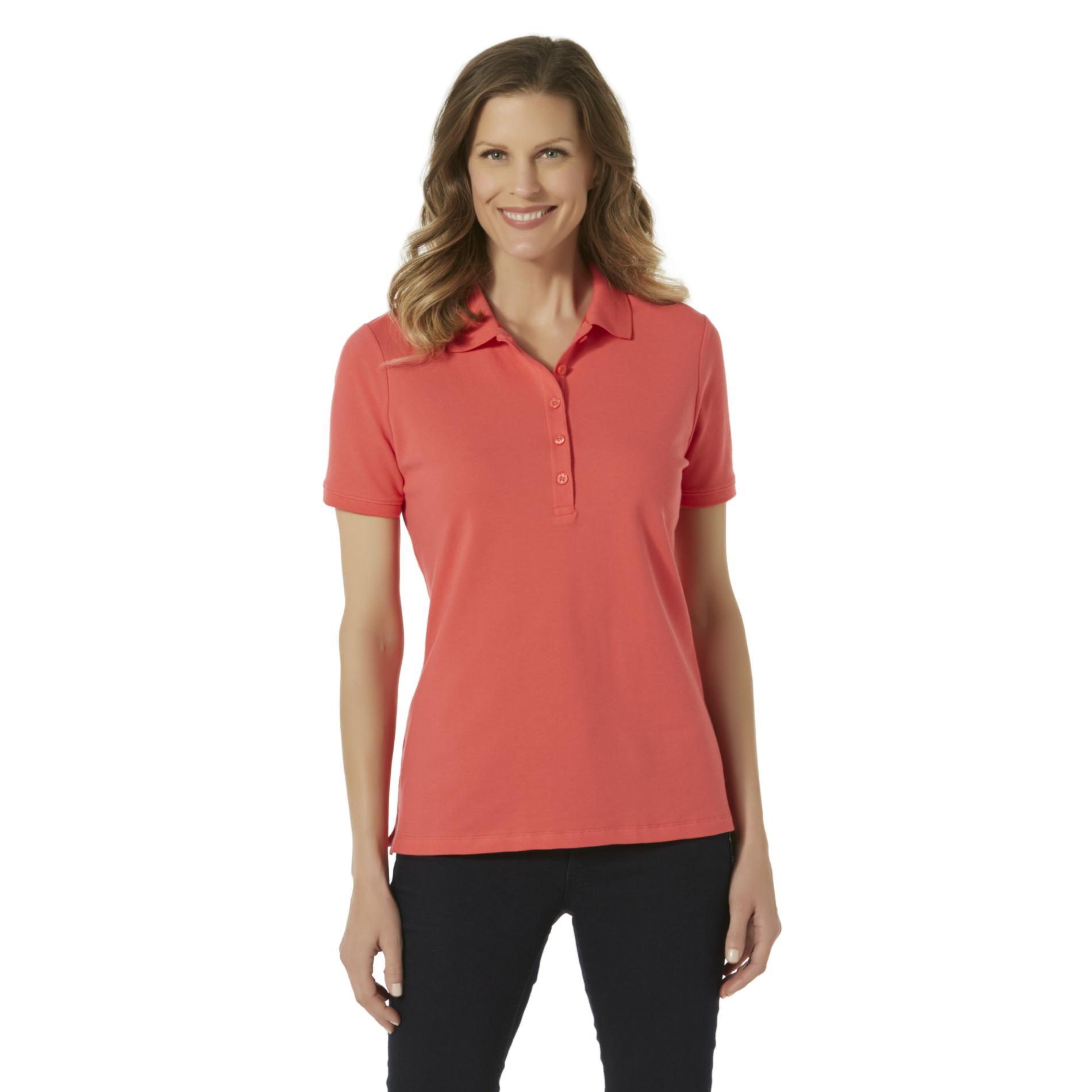 polo shirts for women laura scott womenu0027s polo shirt - sears CHKASWT