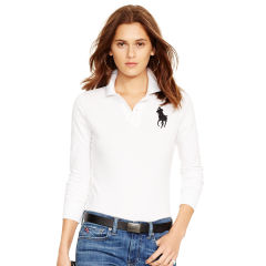 polo shirts for women skinny fit long-sleeve polo - personalization polo shirts - ralphlauren.com TNVYTLF