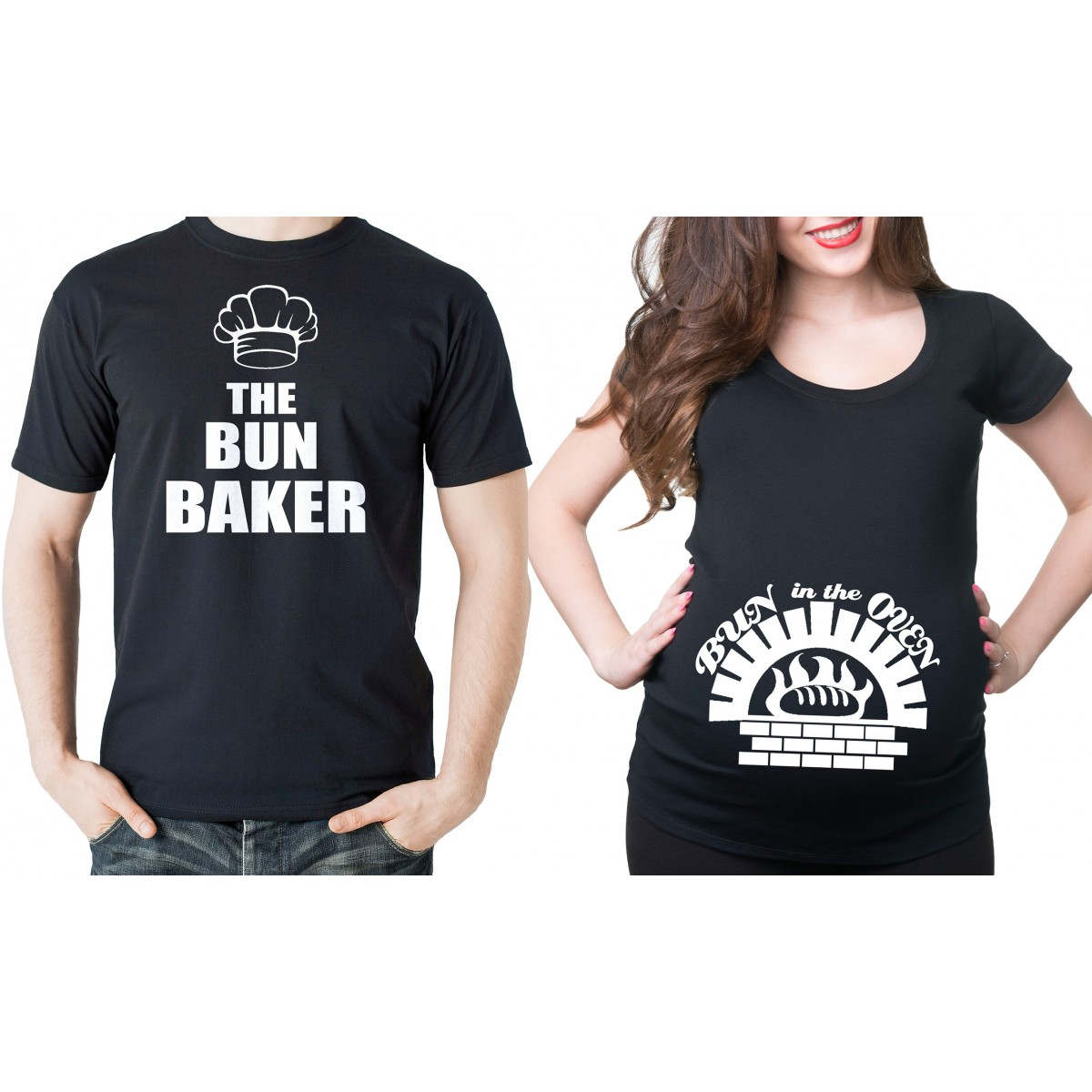 pregnancy t shirts couple maternity t-shirts bun in the oven pregnancy t-shirt bun baker dad  maternity IVWGKUU