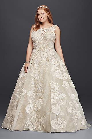princess wedding dresses oleg cassini DUXGPVF