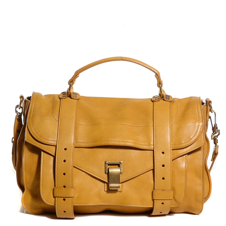 proenza schouler bag proenza schouler ps1 leather convertible strap satchel in orange YOQTLUW