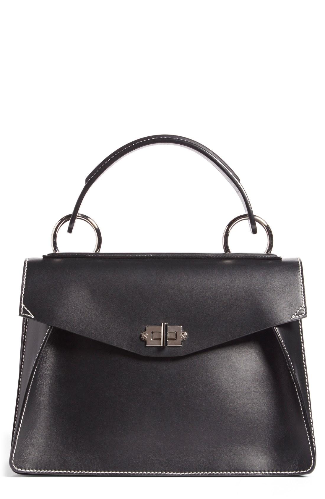 proenza schouler bag proenza schouler u0027medium havau0027 top handle calfskin leather satchel |  nordstrom EPFIAGY