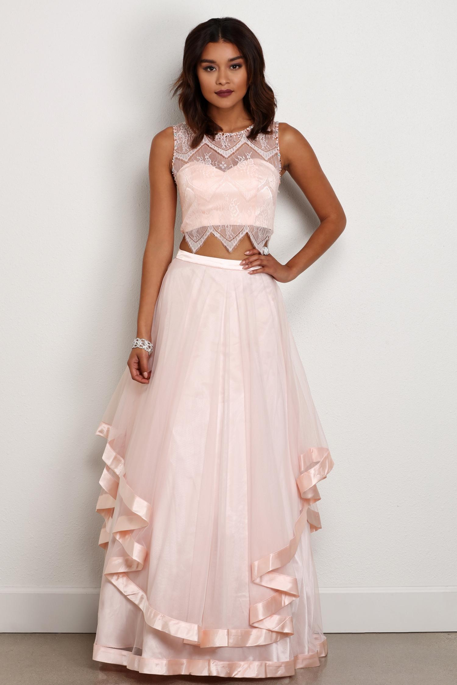 promdress final sale- sierra pink lace prom dress QYRITBN