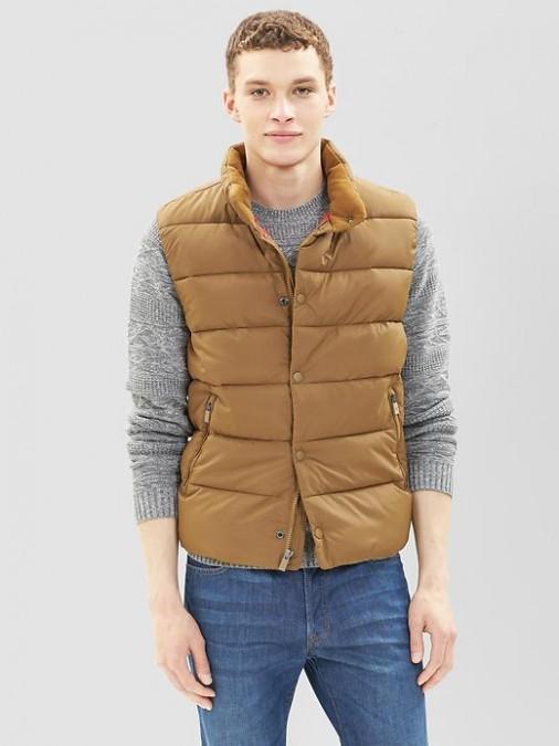 puffy vest primaloft luxe puffer vest, $88 VTZAFUB