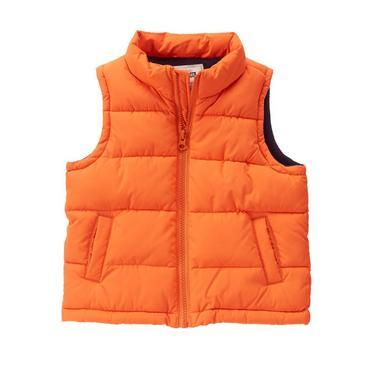 puffy vest toddler boys tangerine puffer vest by gymboree HFIAZTJ