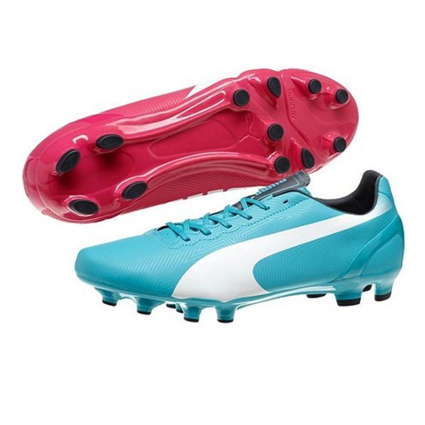 Puma cleats puma evospeed 4.2 fg soccer cleats (beetroot purple/bluebird/white) KGTUMHF