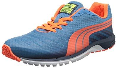 puma faas 300 puma menu0027s faas 300 v3 running shoe,metallic blue/insignia blue/fluorescent  peach JHMZZYY