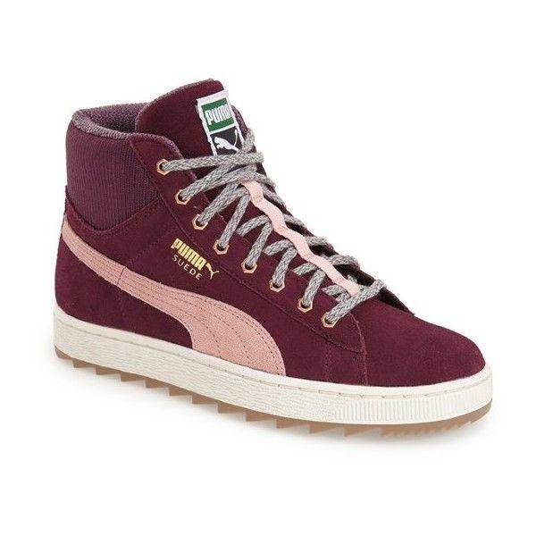 puma high tops puma u0027suede ruggedu0027 high top sneaker ($75) ❤ liked on polyvore featuring TYLBGAF